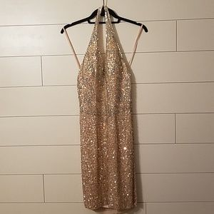 VINTAGE full sequin dress
